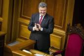 President of Ukraine Petro Poroshenko after the signing of the l — Stock Photo