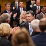 ������, ������: President of Ukraine Petro Poroshenko in Ottawa Canada