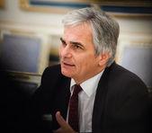 Austrian Chancellor Werner Faymann — Stock Photo