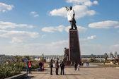 Lenin dressed in Ukrainian national costume — Stock Photo