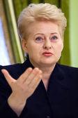 Lithuanian President Dalia Grybauskaite — Stock Photo
