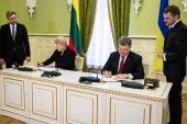 Presidents Petro Poroshenko and Dalia Grybauskaite — Stock Photo
