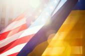 Ukraine and USA alliance — Stock Photo