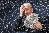 Hombre con un paquete de dólares en Nevada — Foto de Stock