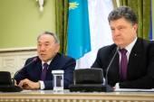 Nursultan Nazarbayev and Petro Poroshenko — Stock Photo