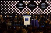 Davos World Economic Forum Annual Meeting 2015 — Foto Stock