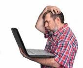 Problems with computer — Stock Photo