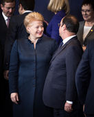 Dalia Grybauskaite and Francois Hollande  — Stock Photo