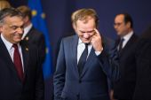 Donald Tusk at the informal EU summit — Foto de Stock