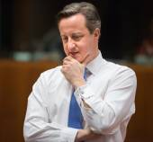British Prime Minister David Cameron — Stock Photo