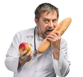 Fruit or bread — Stock Photo