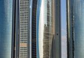 Etihad Towers in Abu Dhab — Stock Photo