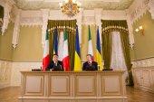 Matteo Renzi and Petro Poroshenko — Stock Photo