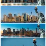 Early morning New York City skyline panorama — Stock Photo #67441881