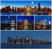 New York City skyline panorama — Stock Photo
