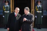Recep Tayyip Erdogan och Petro Poroshenko — Stockfoto