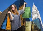 Shopping in New York City. — Stockfoto