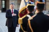 Petro Poroshenko in France — Stock Photo