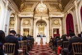Press conference of Petro Poroshenko and Francois Hollande — Stock Photo