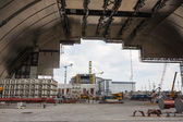 Chernobyl new safe confinement.  — 图库照片