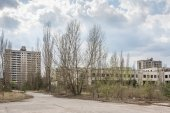 Lost city. Near Chernobyl area — 图库照片