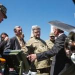 ������, ������: President of Ukraine Petro Poroshenko at the training center of
