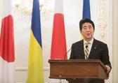 Japanese Prime Minister Shinzo Abe — Stock Photo