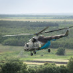 Ukrainian military helicopter — Stock Photo #75567639
