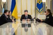 President Poroshenko signed Law of Ukraine On the National Police — Stock Photo