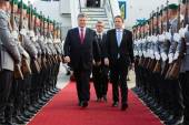 President of Ukraine during his visit to Berlin — Stock Photo