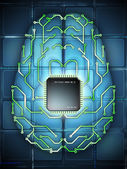 Electronic brain — Stock Photo