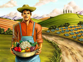 Vegetables farming — Stock Photo
