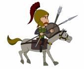 Gallic warrior cartoon — Stock Vector