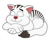 Sleeping cat cartoon — Stock Vector