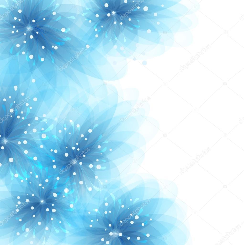 Vector fondo con flores azules — Vector de stock © almatea