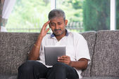 Indian male with a tablet — Foto Stock