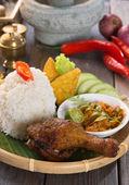 Fried rice set — Stock Photo