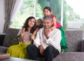Indian family  at home — Photo