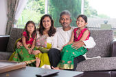 Indian family  at home — Stockfoto