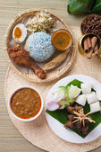 Traditional Malaysian food. — Stock Photo