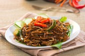 Spicy fried noodle with pork — Foto de Stock