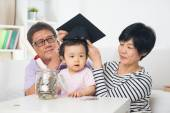 Grand parents with grand daughter — Stock Photo