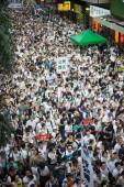 People protest  in hong kong — Stock Photo