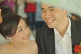 Asian couple during  wedding — Stock Photo