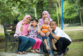 Happy Malay Asian Family — Stock Photo