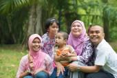 Happy Malay Asian Family — Stock Photo