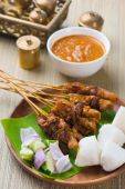 Chicken satay — Stock fotografie