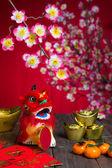 Decorazioni di capodanno cinese — Foto Stock