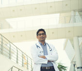 Indian male doctor outdoor — Stockfoto