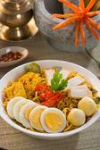 Curry z makaronem — Zdjęcie stockowe